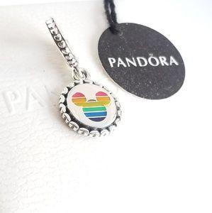 Pandora Mickey Mouse Rainbow Charm Silver 925 Ale